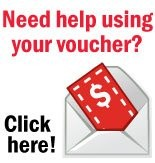 Need help using your voucher? Click here!