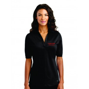 Patient Access Ladies Black Metro Polo